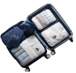 6 Set Packing Cubes Travel Luggage Organizer 3 Travel Cubes