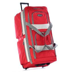 Olympia 33 Inch 8 Pocket Rolling Duffel, Red, One Size