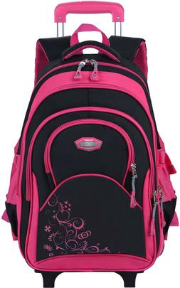 COOFIT 14'' Laptop Rolling Backpack Wheeled Backpack Carry-o