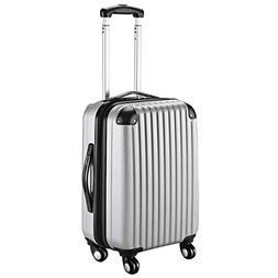 "Goplus 20"" ABS Carry On Luggage Expandable Hardside Travel B"