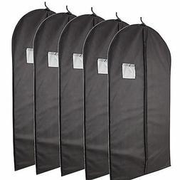 Hanging Black Garment Bag for Storage of Suits or Dresses Pl