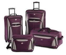 Luggage Sets For Women With Wheels Purple Travel Suitcase Ba