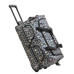 """Olympia 22"""" Printed Rolling Duffel, Trellis, One Size"""