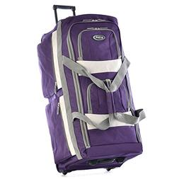 "Olympia 29"" 8 Pocket Rolling Duffel Bag in Dark Lavender"