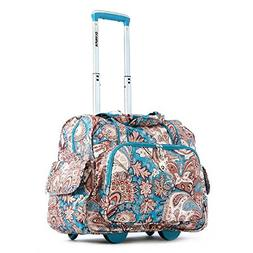 Olympia Deluxe Fashion Rolling Overnighter, Duffel Bag in Pa