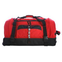 "Olympia Luggage 30"" Rollling Duffle,Red,One Size"