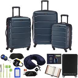 Samsonite Omni 3-Piece Nested Spinner Set - Teal with Luggag