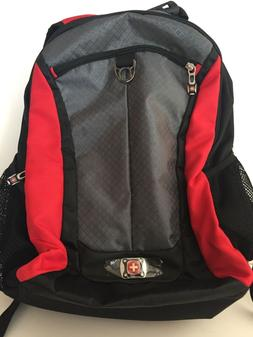 SwissGear Black and Red Backpack with Computer Pocket NWOT