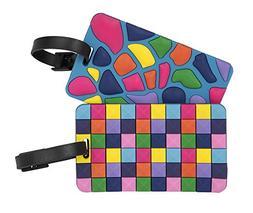 Travelon Set Of 2 Luggage Tags Jewel Mosaic, Multi, One Size