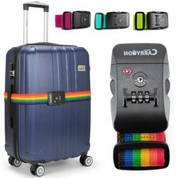 Miami CarryOn Adjustable Luggage Strap with a Built-in TSA C