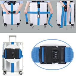 Adjustable Travel Suitcase Luggage Strap Cross Nylon Belt 3