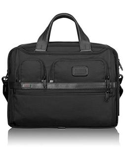 TUMI - Alpha 2 Expandable Organizer Laptop Brief Briefcase -