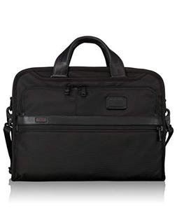 Tumi Alpha 2 Organizer Portfolio Brief, Black