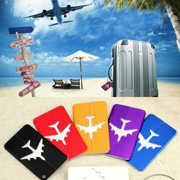 New Aluminium Luggage Tags Suitcase Label Name Address ID Ba