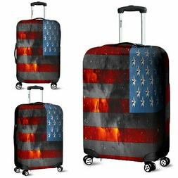 American Space Flag Luggage Cover