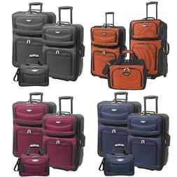 Amsterdam 3-Piece Light Expandable Rolling Luggage Suitcase