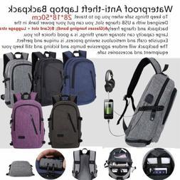 Anti-theft Women Men Laptop Backpack Waterproof Coded Lock L
