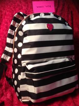 BETSEY JOHNSON  BACKPACK Striped Polka Dots  Bag Handbag  Lu
