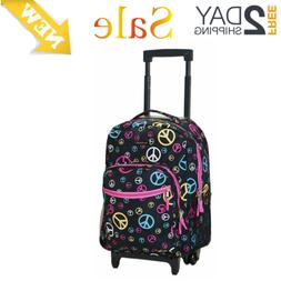 Backpack With Wheels Girls Rolling School Bag Travel Luggage