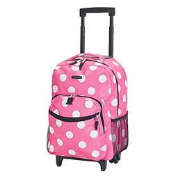 Backpack With Wheels Girls Rolling School Travel Bag Kid Whe