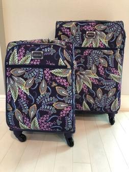 "Vera Bradley BATIK LEAVES 22""and 27"" Spinner Suitcase Lugg"
