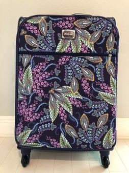 """Vera Bradley BATIK LEAVES 27"""" Spinner Suitcase Luggage NEW w"""