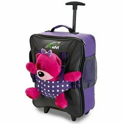 Bear Bag Kids Luggage with Wheels for Girls and Boys Backpac