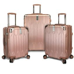 Bell Weather 3pc Hardside Expandable Metallic Spinner Luggag