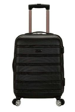 Black Rockland Carry On Luggage Rolling Suitcase 20 Inch Exp