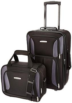 Rockland 2-pc. Black Luggage Set