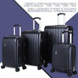 black luggage set bag abs