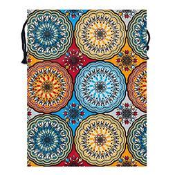 Boho Rosette Drawstring Storage Gift Bags,Party Sport Home T