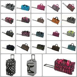 Boys Girls Week Travel Luggage Bag With Wheels 22 Inch Duffe