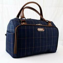 "LONDON FOG BRENTWOOD 17"" CARRY ON UNDER SEAT CABIN BAG BLUE"