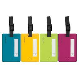 Travelon Multi-Color Bright Hard Plastic Luggage ID Tags - S