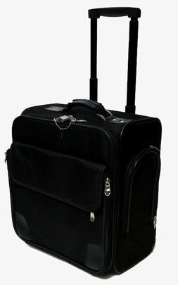 """Business Case and luggage Black 14"""" rolling laptop briefcase"""
