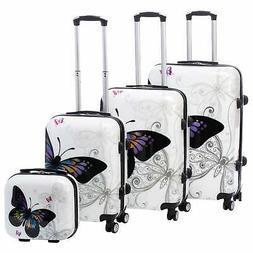 World Traveler Butterfly 4-piece Hardside Spinner Luggage Se