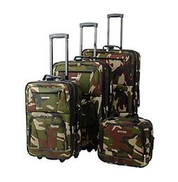 Rockland 4-pc. Camoflage Luggage Set
