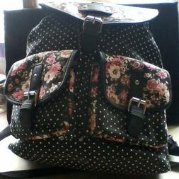 Candie's Parker Floral Dotted Lined Backpack Brand New Never