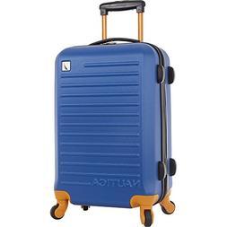 Nautica Carry-on Hardside Expandable Spinner, Blue/Tangerine