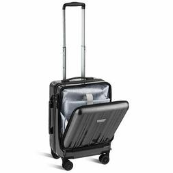 "Carry On Luggage 20"" Front Pocket Business Trolley Spinner w"
