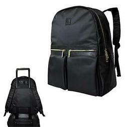 Klott Carry-on Travel Laptop Backpack w Luggage Sleeve. Blac