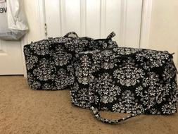 Vera Bradley CHANDELIER NOIR Small & Large Duffel Bag Set Lu