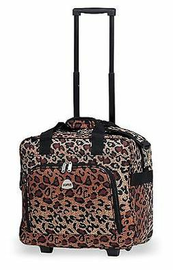 Cheetah Rolling Carry On LightWeight Duffle Tote Bag Luggage