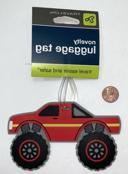 Travelon Child's NOVELTY LUGGAGE TAG ~ Red Truck Style #1335