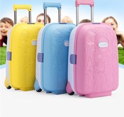 children wheeled travel suitcase unisex spinner luggage