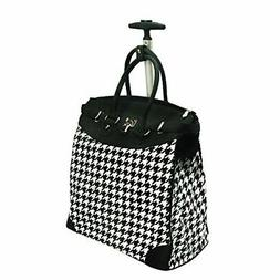 "Rollies Classic Houndstooth 14"" Rolling Laptop Travel Tote B"