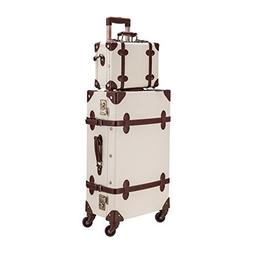 """CO-Z Premium Vintage Luggage Set - 24"""" Trolley Suitcase and"""
