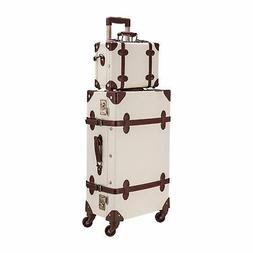 """CO-Z Premium Vintage Luggage Sets 24"""" Trolley Suitcase and 1"""