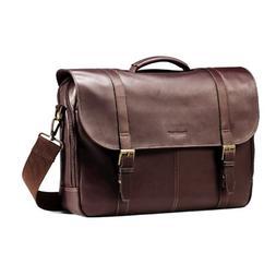 Samsonite Colombian Leather Flap-Over Messenger Bag, Brown